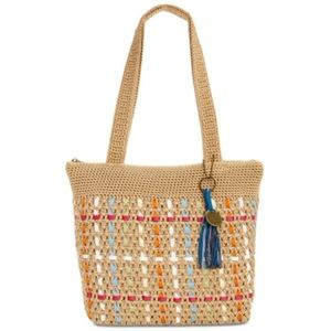 ⭐️The Sak Amberly Crochet Tote Bamboo MultiGold